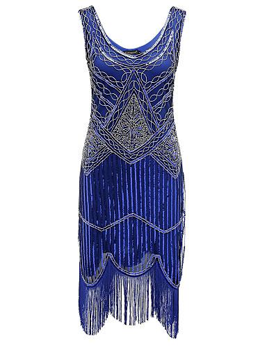 voordelige Jurken voor speciale gelegenheden-Strak / kolom V-hals Over de knie Polyester Glitter & Sprankel Cocktailparty Jurk met Pailletten door TS Couture®