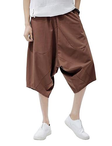 Bărbați Simplu Larg Harem / Picior Larg Pantaloni Mată