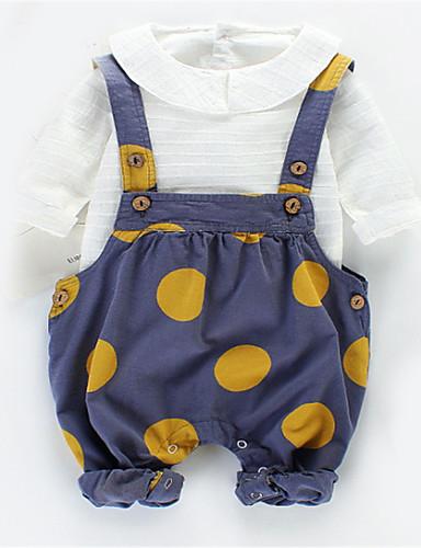 Bebelus Unisex De Bază Buline Manșon scurt Set Îmbrăcăminte / Copil
