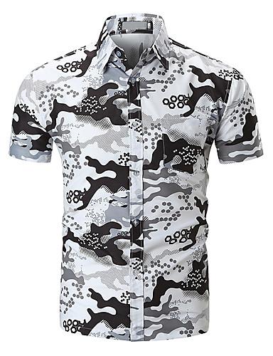 Koszula Męskie Podstawowy Geometryczny / Wielokolorowa