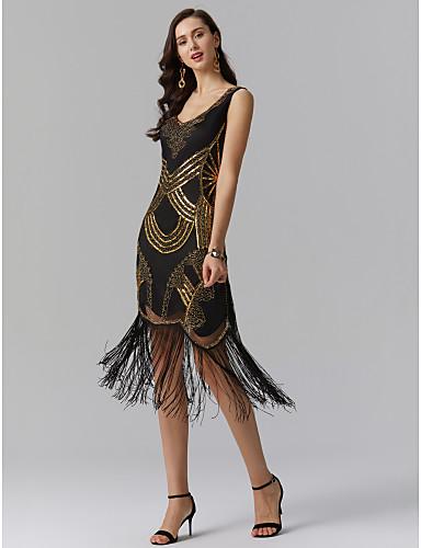 Pouzdrové Do V K lýtkům Polyester Zářivé Koktejlový večírek Šaty s Flitry podle TS Couture®
