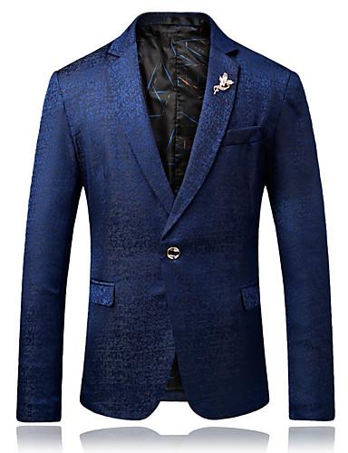 Bărbați Rever Peaked Blazer Petrecere Zilnic Mată / Va rugăm selectați cu o mărime mai mare decât purtați. / Manșon Lung
