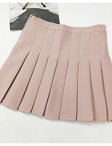 femme quotidien sortie trap ze jupes couleur pleine taille haute de 6709636 2019. Black Bedroom Furniture Sets. Home Design Ideas