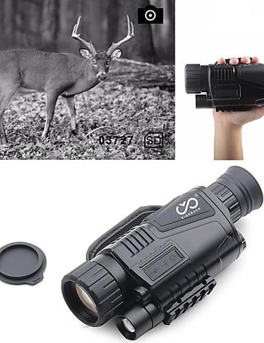 olcso Sport & túra-5 X 40 mm Éjszakai látás Monokuláris Infracrveno Hordozható Újratölthető Multifunkcionállis BAK4 Vadászat Mászás Katonai Night vision