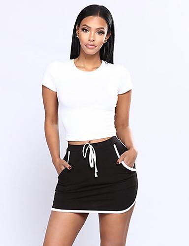 Damskie Wyrafinowany styl / Moda miejska Bodycon Spódnice Jendolity kolor