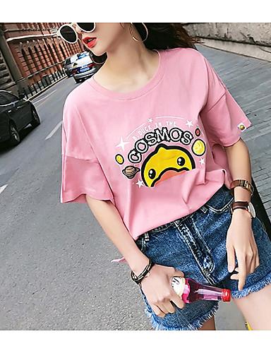 T-shirt Damskie Bawełna Zwierzę / Bawełna / Zwierzę