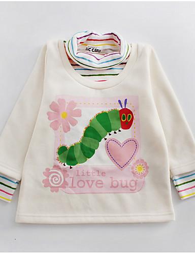 Leale Bambino Da Ragazza Moda Città Con Stampe Manica Lunga Poliestere T-shirt Bianco - Bambino (1-4 Anni) #06656440