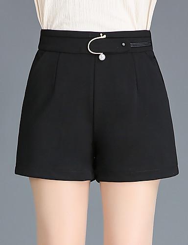 3db0e48a68 Women s Active Plus Size Slim Shorts Pants - Solid Colored High Waist Black