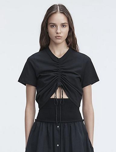 T-shirt Damskie Urocza Jendolity kolor