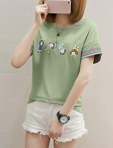 billige Dametopper-Bomull Puffermer T-skjorte Dame - Ensfarget, Dusk Vintage Strand Svart og hvit Hvit M