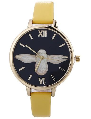Pentru femei Ceas de Mână Chineză Creative / Adorabil / Mare Dial PU Bandă Modă / minimalist Negru / Alb / Albastru