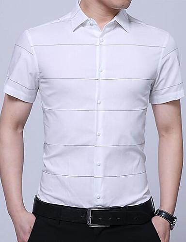 Koszula Męskie Biznes Solidne kolory / Krótki rękaw