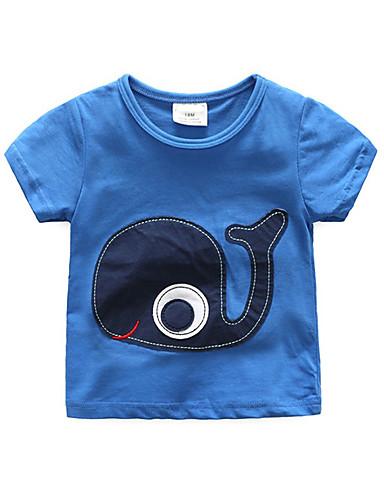 Dzieci / Brzdąc Dla chłopców Patchwork Krótki rękaw T-shirt