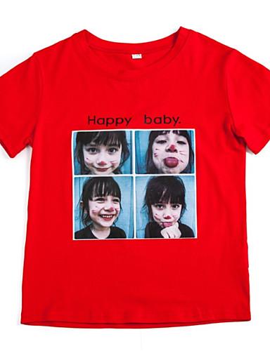 Dzieci Dla dziewczynek Nadruk Krótki rękaw T-shirt