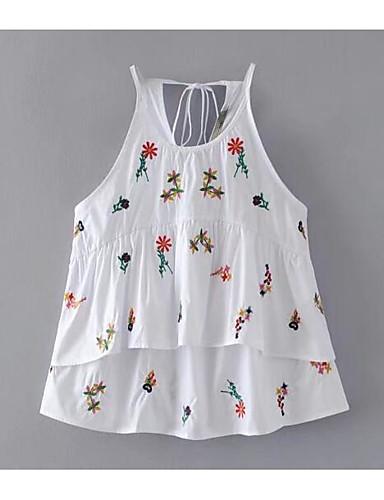 Koszula Damskie Ramiączka Kwiaty
