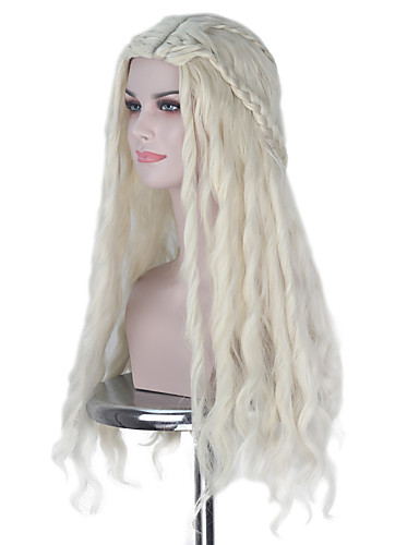 Cosplay Wigs Game of Thrones Cosplay Ivory Anime Cosplay Wigs 18 inch Heat  Resistant Fiber All Halloween Wigs 43ebbe8ea404