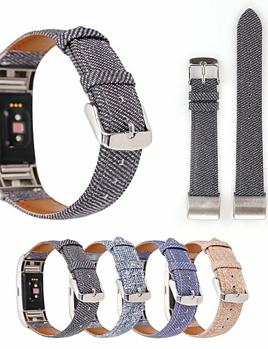 Watch Band for Fitbit Charge 3 Fitbit Leather Loop Stainless