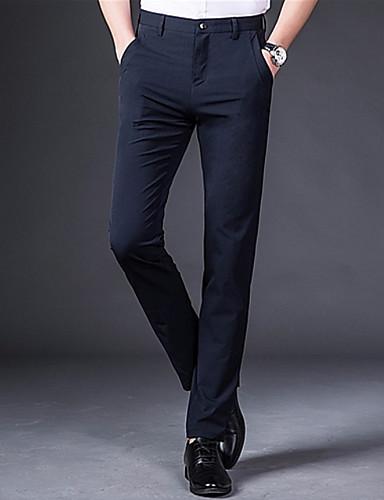 Bărbați De Bază Zvelt Pantaloni Chinos Pantaloni Mată