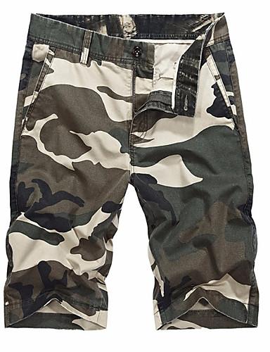 Bărbați Bumbac Pantaloni Scurți Pantaloni camuflaj
