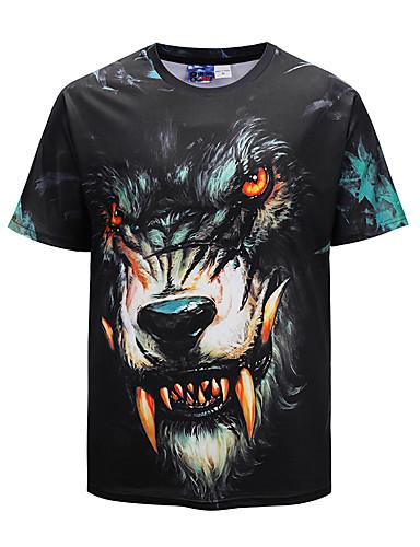 Bărbați Tricou Șic Stradă / Exagerat - Animal Imprimeu Lup