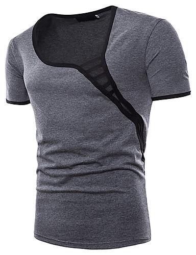 Bărbați Tricou De Bază - Mată / Bloc Culoare