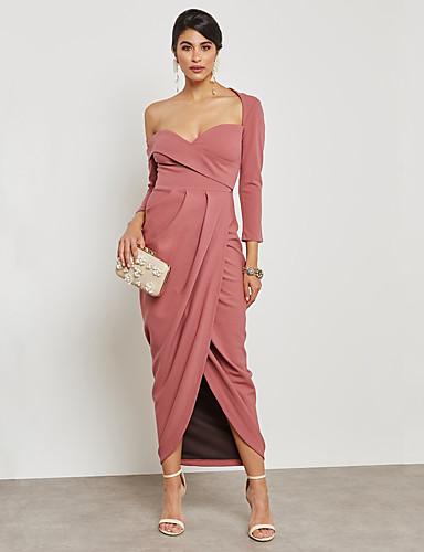 b6684e5a286c Γυναικεία Κομψό στυλ street   Εκλεπτυσμένο Εφαρμοστό   Θήκη Φόρεμα -  Μονόχρωμο