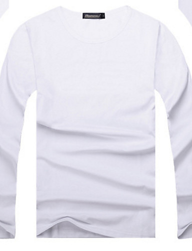 Bărbați Rotund Tricou De Bază - Mată / Manșon Lung