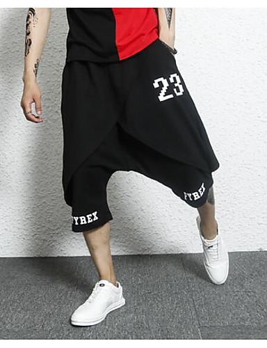 Bărbați Șic Stradă Harem Pantaloni Bloc Culoare / Scrisă