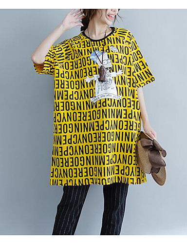 Pentru femei Tricou Vintage - Mată Franjuri Alb negru