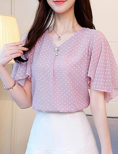 Pentru femei În V Bluză Buline