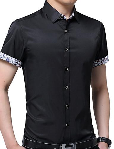 cămașă pentru bărbați - guler de cămașă solid colorat