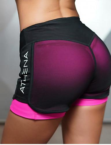 2edb7c14ab Women's With Inner Shorts Yoga Shorts Sports Mesh Bottoms Zumba Pilates  Running Activewear Lightweight Quick Dry Butt Lift Stretchy Slim