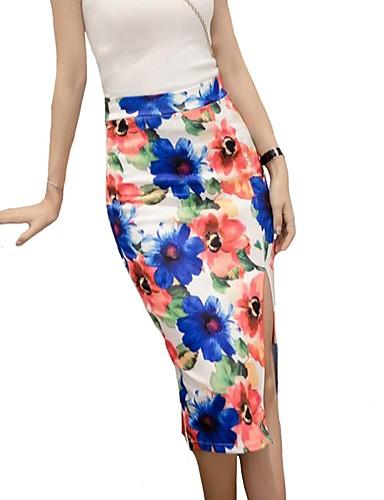 Pentru femei Stilouri Șic Stradă Fuste - Floral