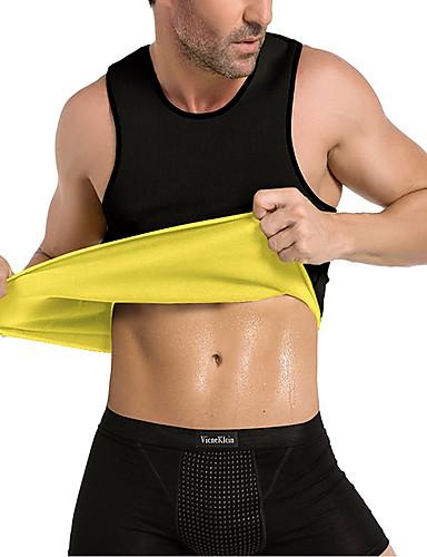 povoljno Vježbanje, fitness i joga-Prsluk za trbušni trening Majica Shaper tijela Neopren No Zipper Vrući znoja Slimming Gubitak težine Tummy Fat Burner Sposobnost Trening u teretani Vježbati Za Muškarci