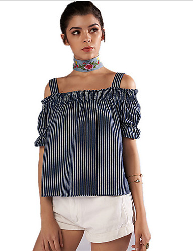 Majica s rukavima Žene Izlasci Jednobojni Uski okrugli izrez