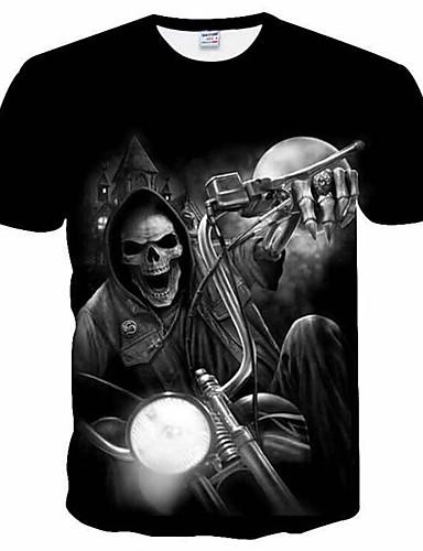 Majica s rukavima Muškarci Dnevno Lubanje Mrežica