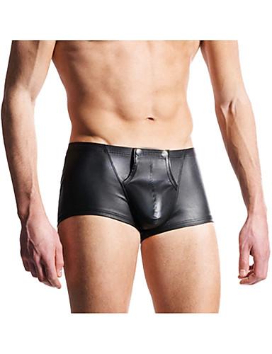 voordelige Herenondergoed & Zwemkleding-Standaard, Effen - Sexy Boxer Heren Lage Taille / Zomer