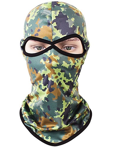 cheap Cycling Clothing-Balaclava Quick Dry Protective Bike / Cycling Blue Forest Green Camouflage Lycra for Men's Women's Adults' Outdoor Exercise Bike / Cycling Camo / Camouflage 1 Piece / Stretchy / Mountain Bike MTB