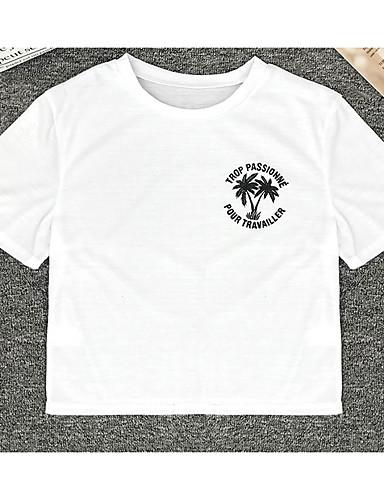 Majica s rukavima Žene Dnevno Pamuk Jednobojni