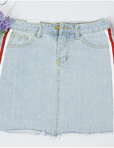 Žene Bodycon Osnovni Traper Suknje - Color block / Slim