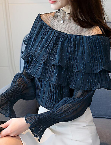 Majica Žene - Ulični šik Dnevno / Izlasci Geometrijski oblici / Color block Mrežica