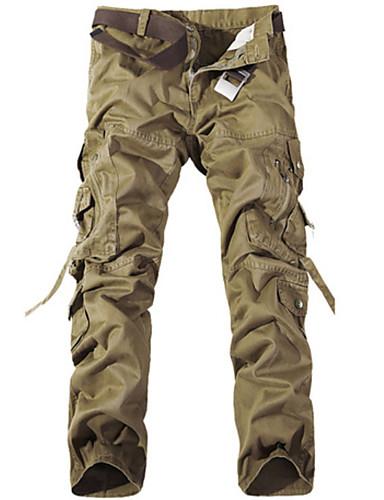 homme militaire pantalon cargo pantalon couleur pleine de. Black Bedroom Furniture Sets. Home Design Ideas