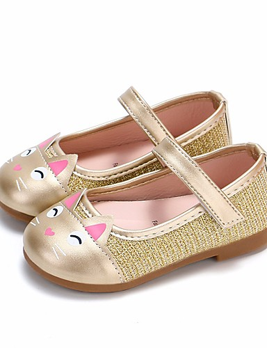 e78027314 Girls' PU(Polyurethane) Flats Toddler(9m-4ys) / Little Kids(4-7ys) Comfort  / Flower Girl Shoes Gold / Black / Pink Spring & Fall