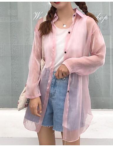 Bluza Žene - Vintage Dnevno Jednobojni Rese Crno-bijela