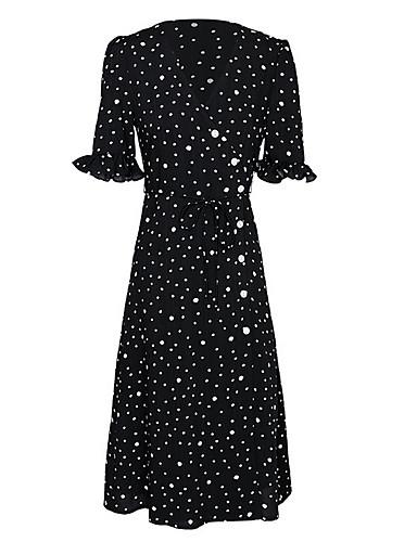 Žene Slim Šifon Haljina V izrez Midi