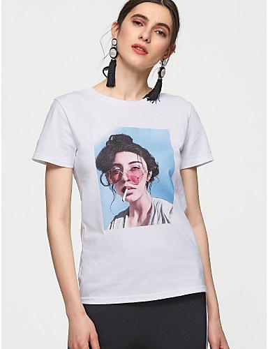 povoljno Ženske majice-Majica s rukavima Žene - Osnovni Dnevno Pamuk Jednobojni / Portret Obala / Ljeto