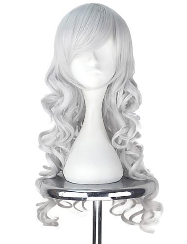 voordelige Cosplay Pruiken-Vocaloid Megurine Luka Cosplaypruiken Allemaal 30 inch(es) Hittebestendige vezel Zilver Anime