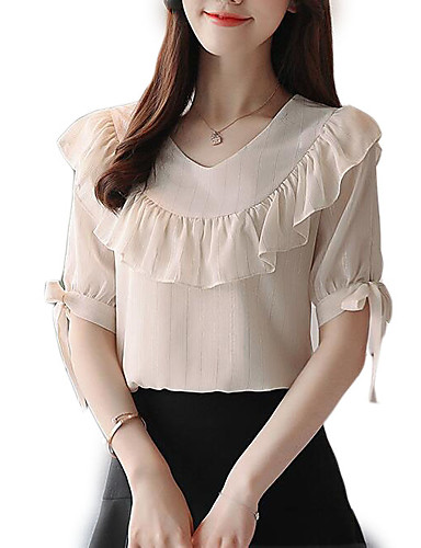 Majica s rukavima Žene Izlasci Jednobojni V izrez