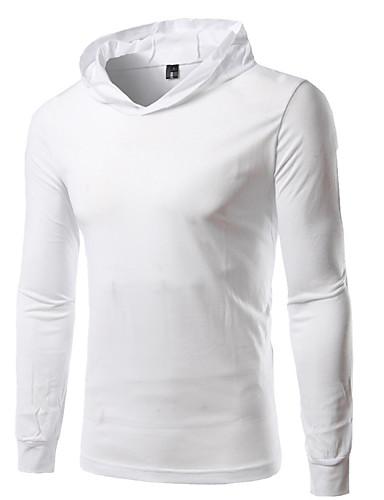 af4148cd767c Ανδρικά T-shirt Μονόχρωμο Με Κουκούλα   Κοντομάνικο 6782004 2019 –  12.74