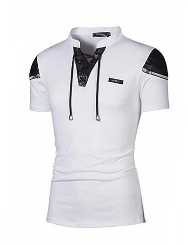 Majica s rukavima Muškarci Izlasci Jednobojni Kragna košulje / Kratkih rukava